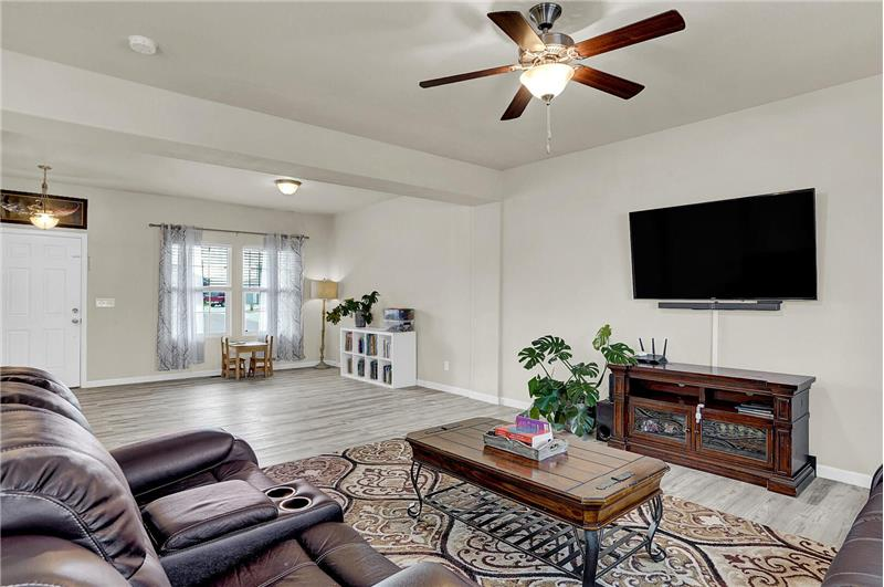 View of the Living Room and Entry from the Family Room