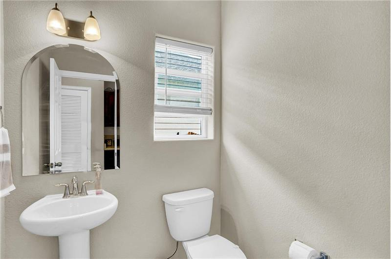 Powder Bathroom off the Kitchen