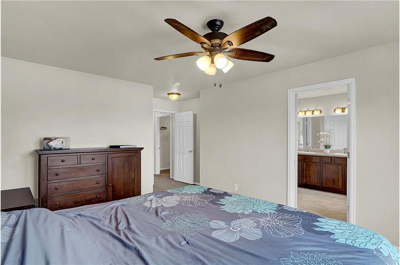 Upper-level Master Bedroom into 5-piece Master Bathroom