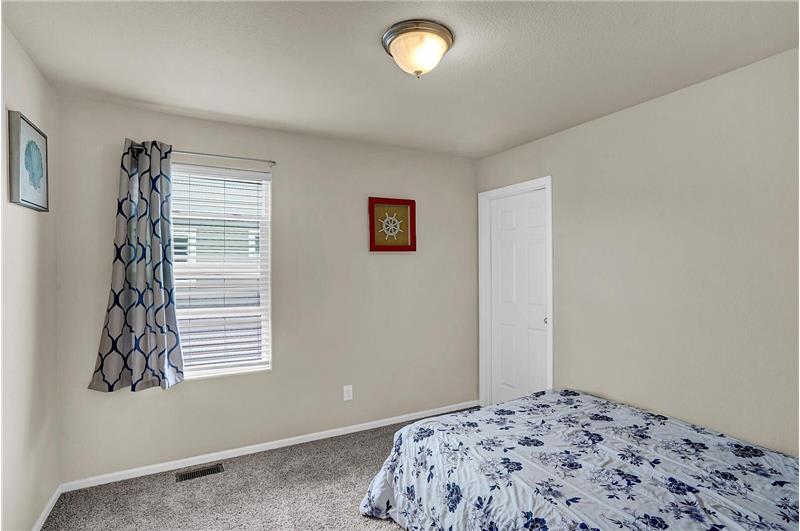 Upper-level Bedroom #2 with walk-in closet