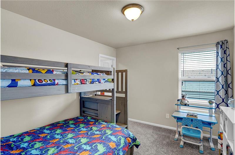 Upper-level Bedroom #3 with walk-in closet