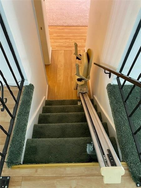 Stair elevator to lower level included if you want it
