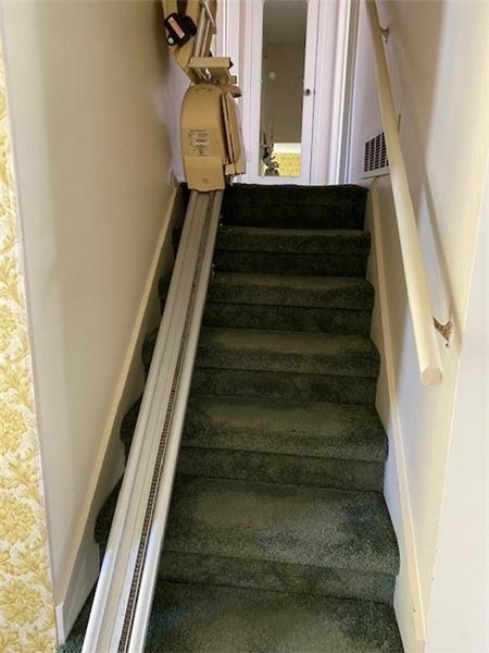 Stair elevator to upper level included if you want it.