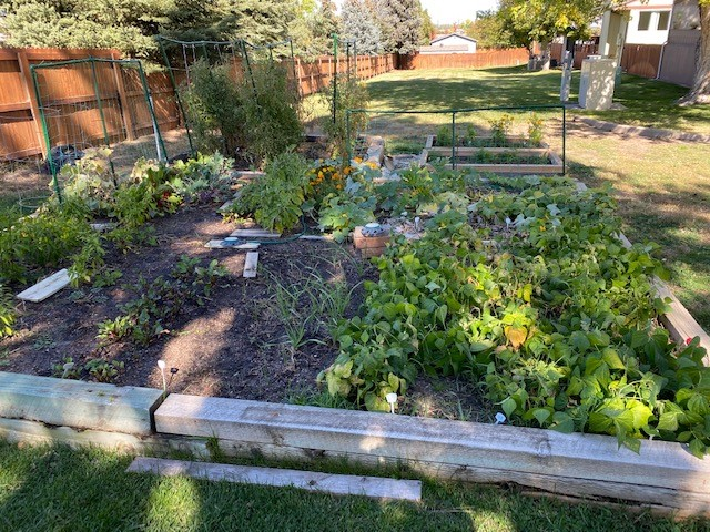 Community garden is just 25 yards from your back gate!