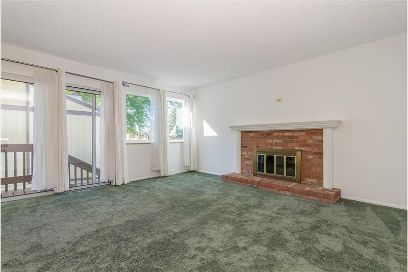 In basement is an electric fireplace insert for the fireplace if you want it.