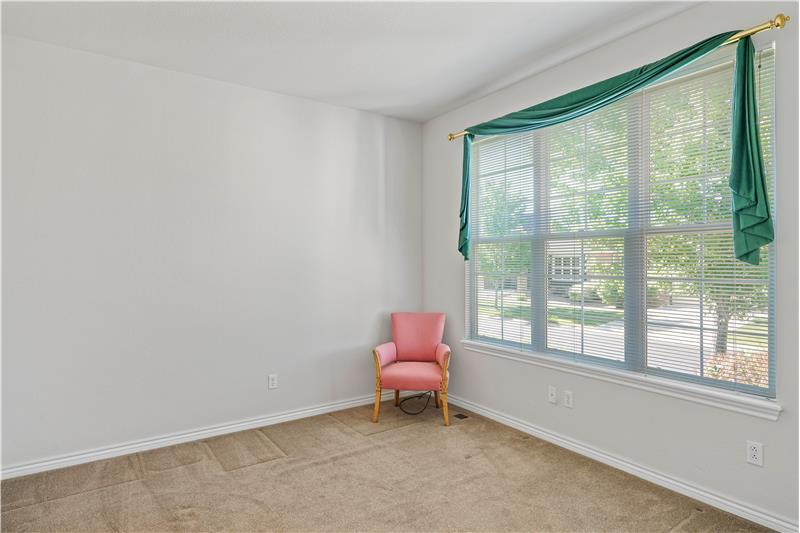 Study/den is off the foyer. Could be 3rd bedroom, but has no closet.