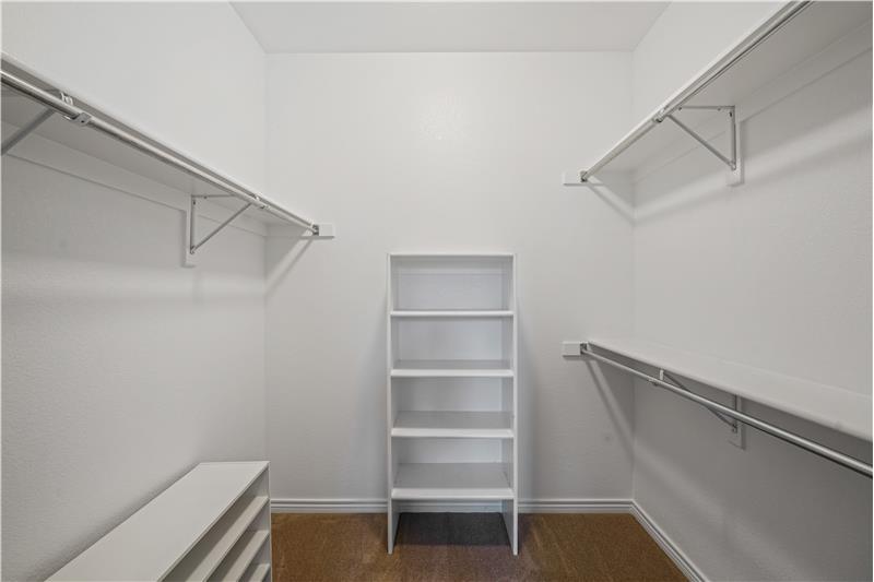 Master closet measures 7'x8'