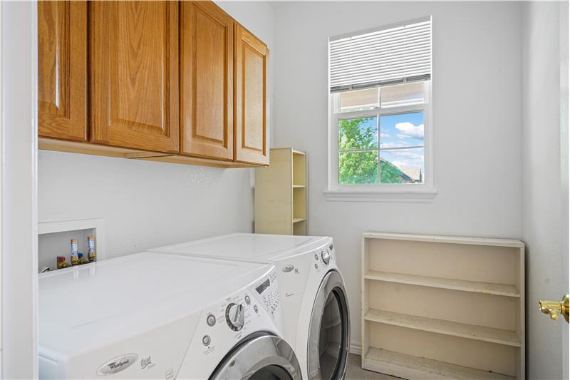 High efficiency Whirlpool washer and steam dryer are included
