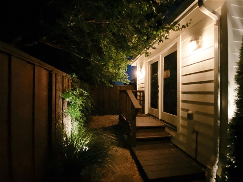 Night Shot of In-Law Entry