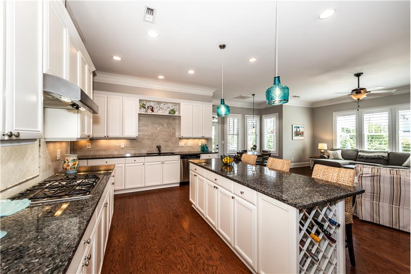 Plenty of room for lots of cooks in this kitchen.