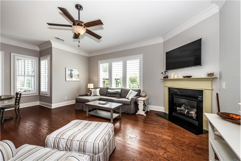 Great room has space for generous seating. Open flow is perfect for entertaining.