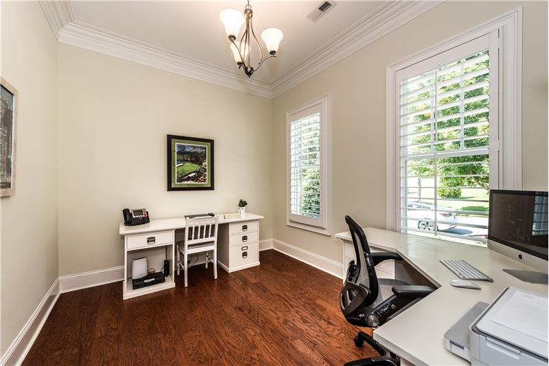 Home office is great flex space. Use it as an office, a study, a music room, a library, or even a play room.