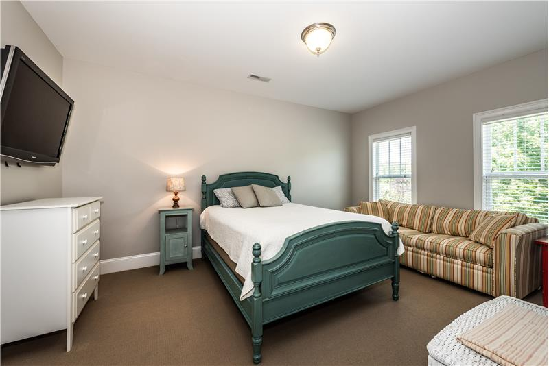 Fourth bedroom on second floor is large enough to be used as a bonus or play room and features a huge walk-in closet.