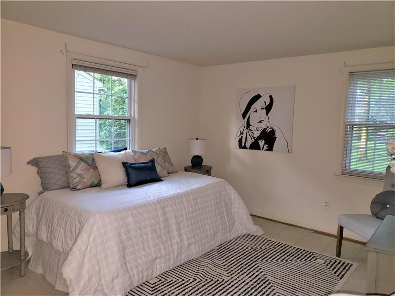 Lower Level Bedroom, Above ground