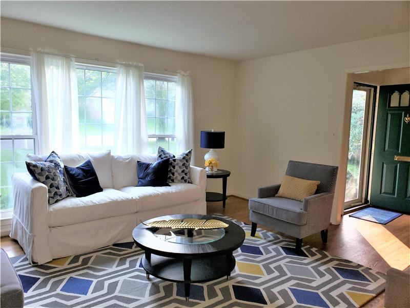 Spacious Living Room w/ Wood Floors