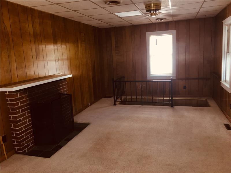 Large living room off front porch