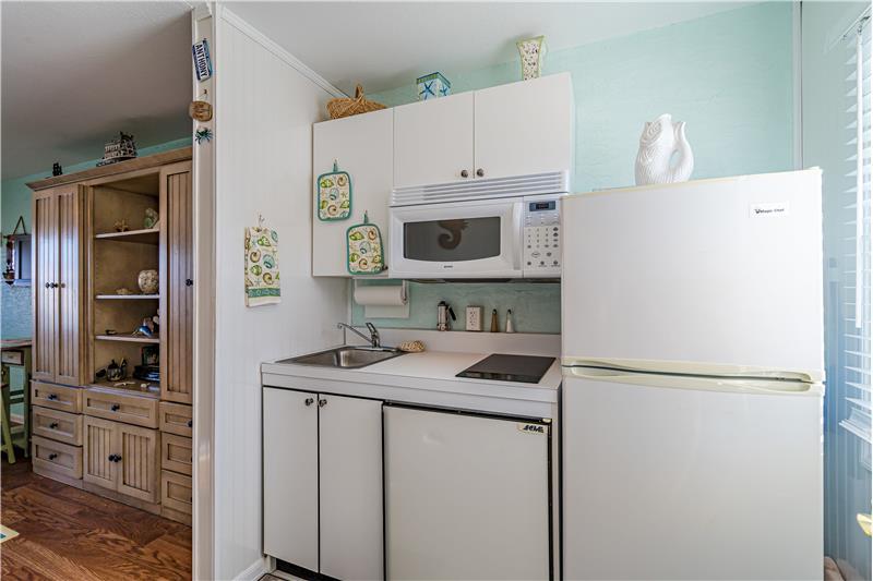 Microwave & 2 Refrigerators