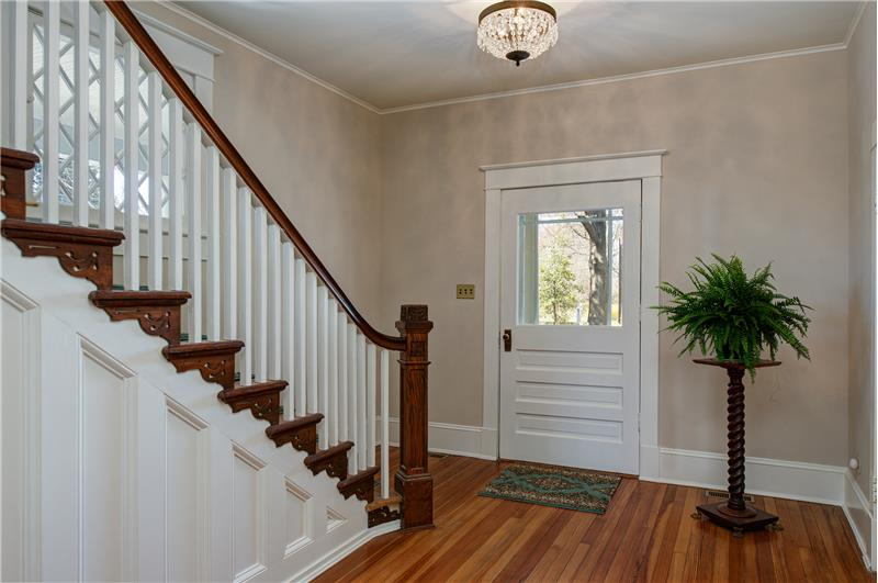 The elegant foyer welcomes you and your guests