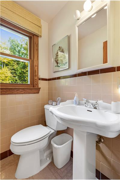 one half bath with possibility of conversion to full