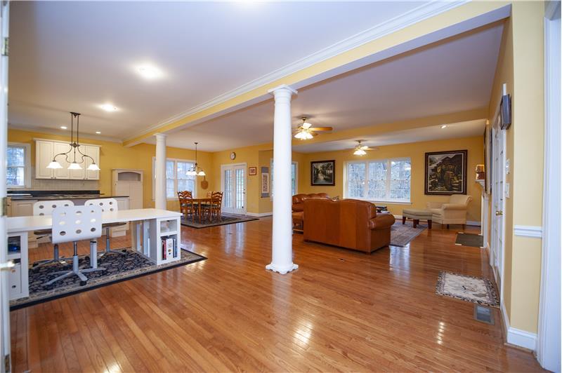 930 Academy Lane Furnished Rental Open Floorplan