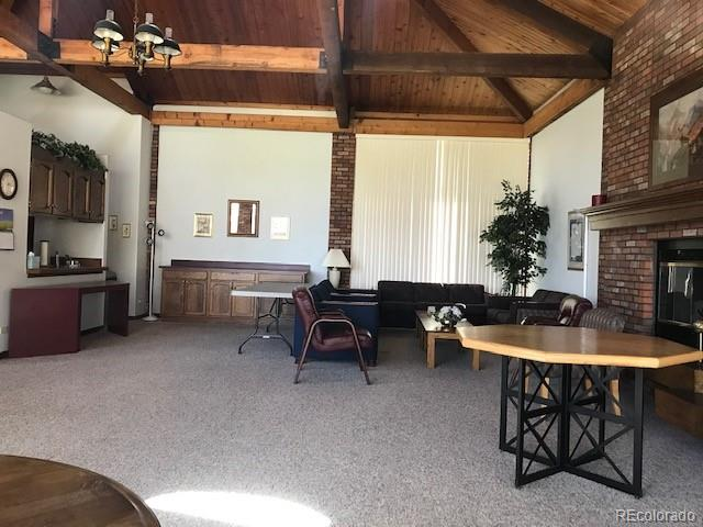 Interior of clubhouse for residents' use