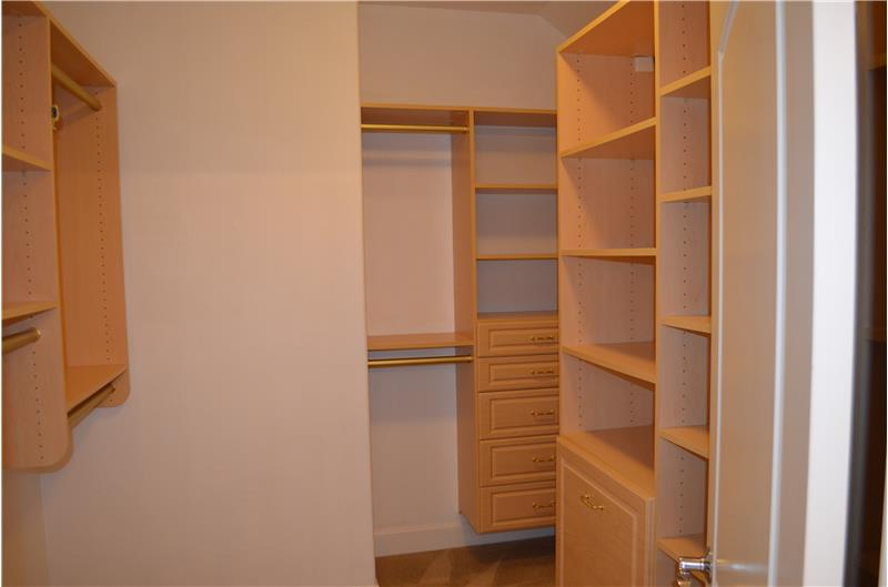 Spacious closets in master