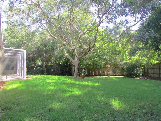 Fenced oversized backyard