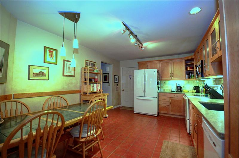 Leathered granite countertops, newer appliances