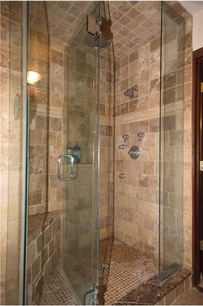 Stunning master bath shower