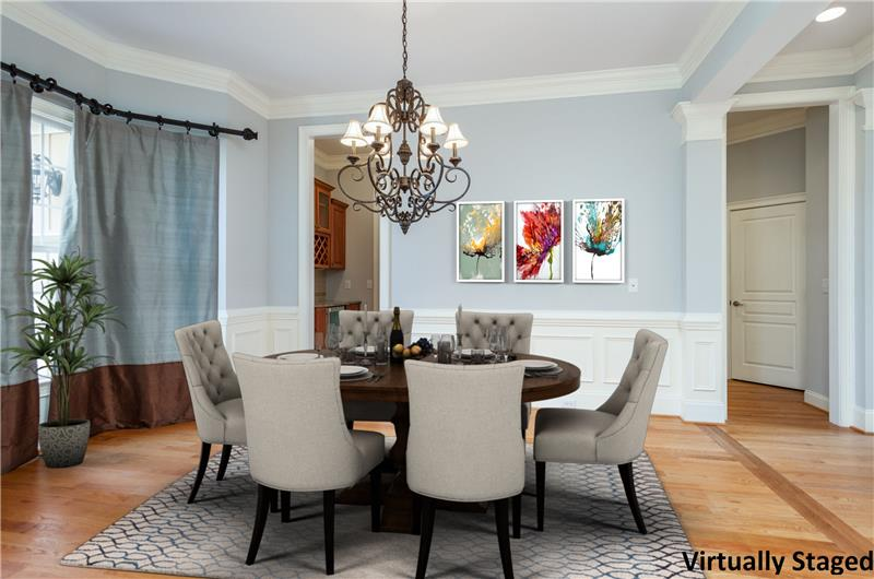 104 River Run Road, Durham, NC Dining Room Virtually Staged