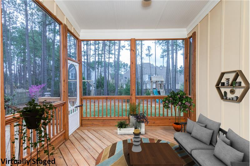 104 River Run Road, Durham, NC Screened Porch Virtually Staged