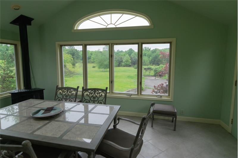 Sunroom with great views of the landscape