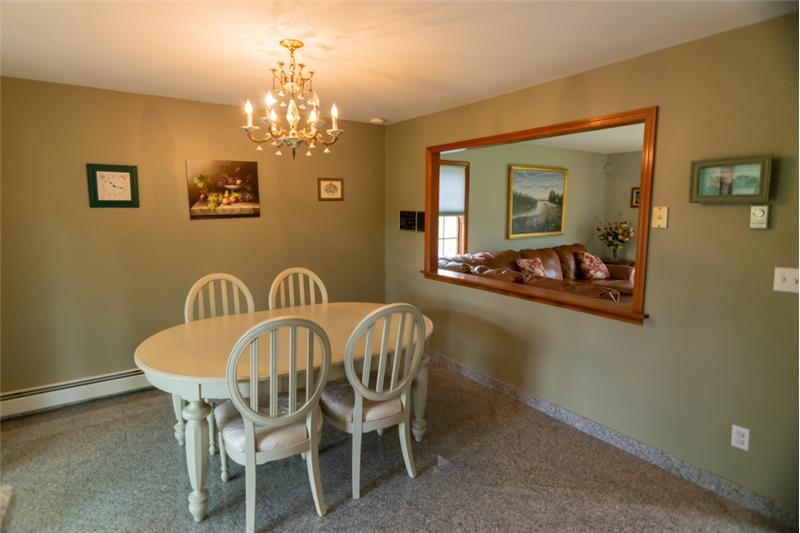 Dining room with view of living room