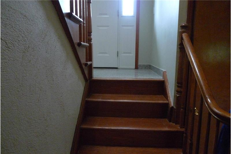 Stairs to family room and garage