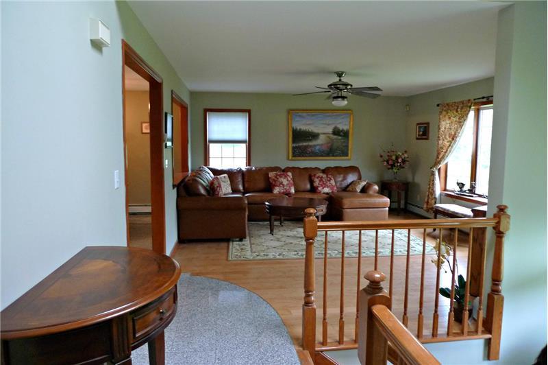 Hallway view towards living room