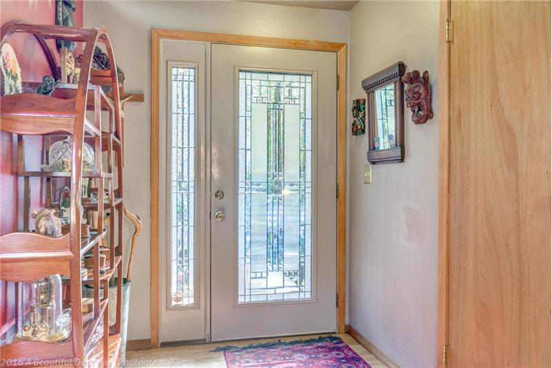 Leaded Glass Entrance Doors