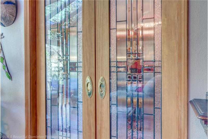Leaded Glass Doors to Formal Dining