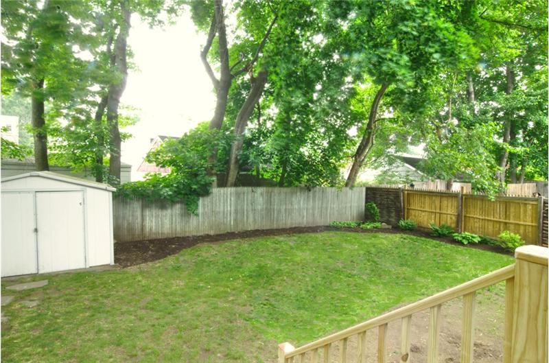 Backyard with Storage Shed