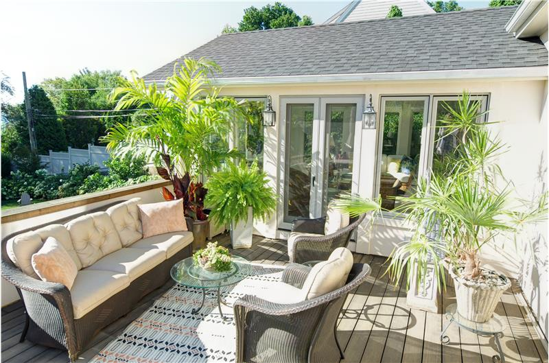 Deck off Kitchen and Sunroom