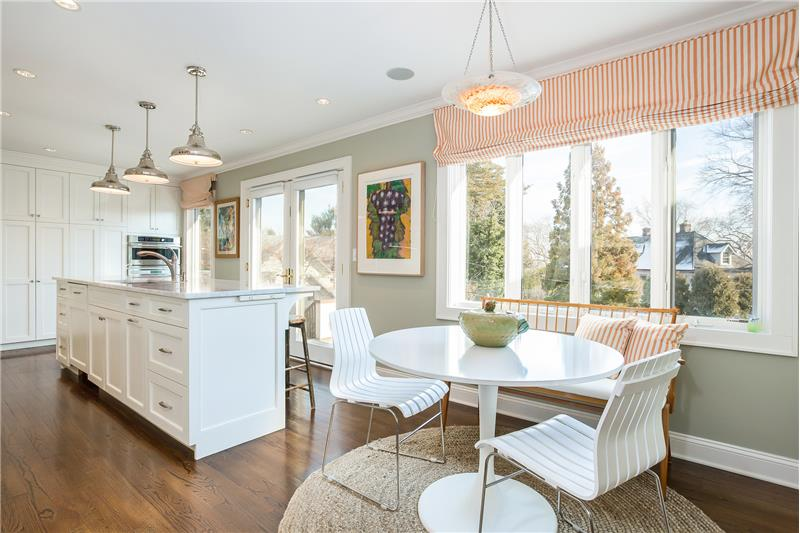 Kitchen with French Doors to Deck