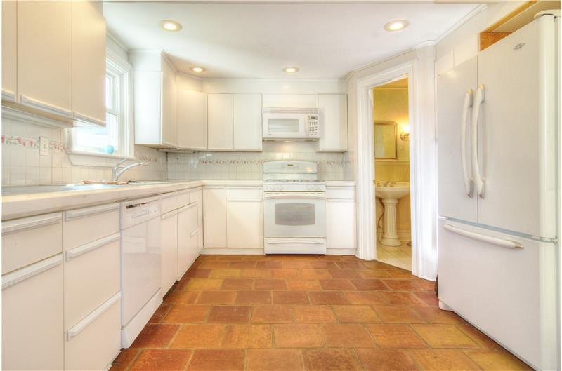 Kitchen with Beautiful Tile Floor
