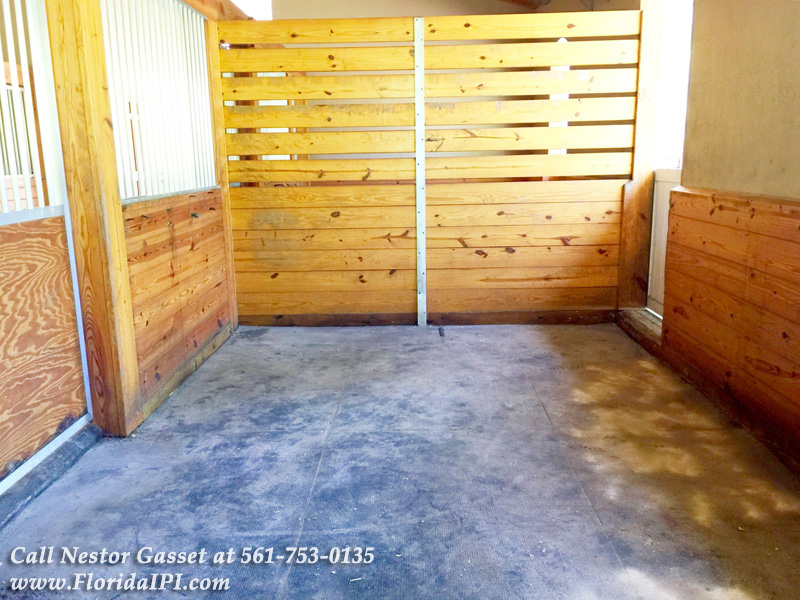 6 Rubber Matted Stalls