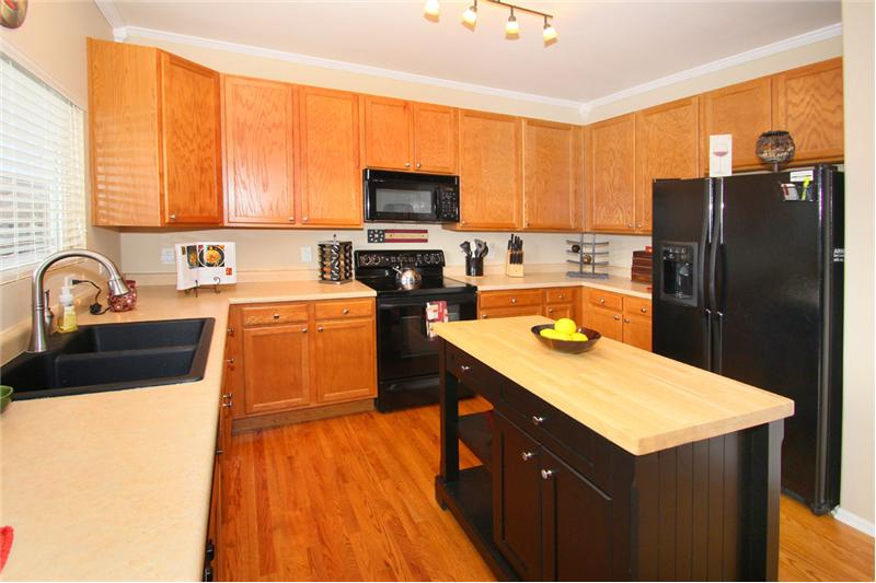 Kitchen island included!