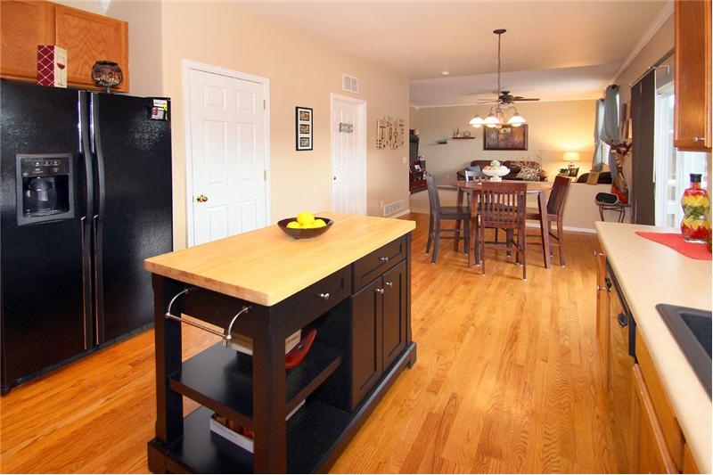 Kitchen pantry and cabinets offer plenty of storage space!