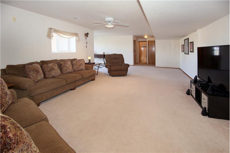 Bonus family room in basement