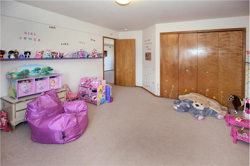 Large fourth bedroom in basement