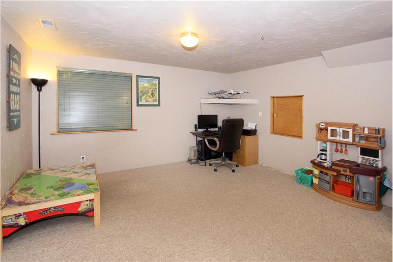 Finished basement offers bonus space for a rec room or office