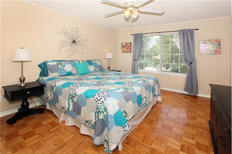 Master bedroom fits a king size bed!