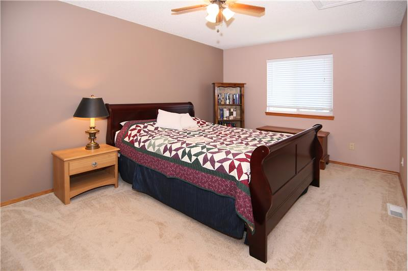 Spacious third bedroom with newer carpet