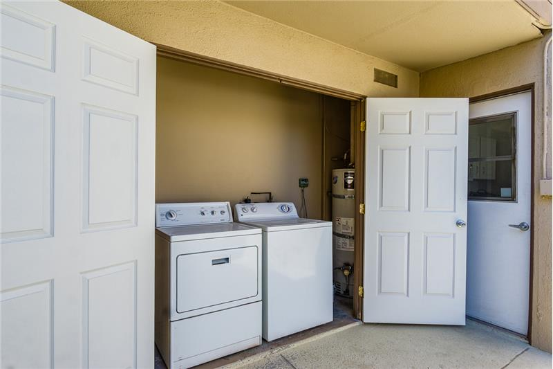 Washer and Drier off of Kitchen